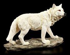 Wolf Figur weiß 20 cm - Der Bergwächter - Fantasy Western Indianer Deko