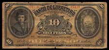 Mexico, El Banco de Queretaro 10 Pesos 30-Jul-1903, M474a/BK-QUE-7. Good