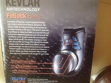 premier Equine  Shockproof Fetlock Protection Boots. Pony Size. Brown Ideal Gift