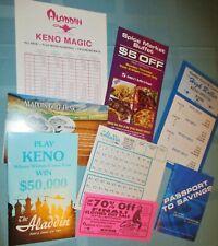 Aladdin Casino - Las Vegas - Memorabilia - Nine (9) Items