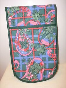 """OVEN GLOVES """"ULSTER WEAVERS UK MADE BRIGHT PATTERN ( NEW )"""