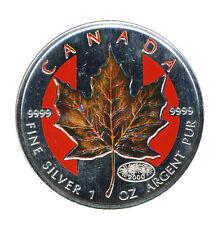 KANADA - 5 Dollars 2000 - AHORNBLATT - SILBER 1 Unze - WINTER - FARBE
