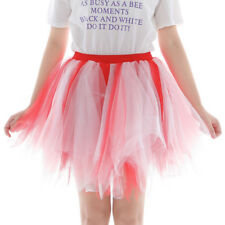 Womens Girls Princess Ballet Tulle Tutu Skirt Wedding Prom Rockabilly Mini Dress