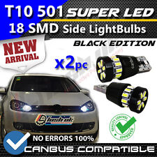 *2X 18SMD W5W T10 501 CANBUS ERROR FREE WHITE 18 SMD LED SIDELIGHT BULB SL103106