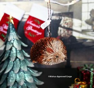 CRATE & BARREL BURI HEDGEHOG ORNAMENT -NWT- HANG WITH THIS ADORABLE CRITTER!