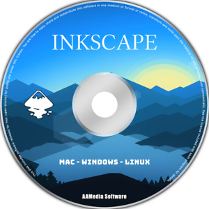 Inkscape - Graphic Illustrator Drawing Software Compatible with Ilustrator CD