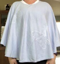 BLUE BUTTERFLY Nursing Cover Breastfeeding Poncho