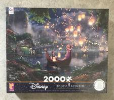 Thomas Kinkade Disney Tangled Rapunzel Jigsaw Puzzle 2000 piece Ceaco USA NEW!