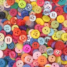 50pcs Assorted Sizes Colors Round Plastic Buttons Lot Cards Craft DIY Embellish