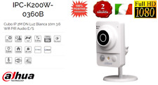 IPC-K200W TELECAMERA CUBE IP DAHUA 2 MP FULL HD 1080P WIFI AUDIO SD IR 10m
