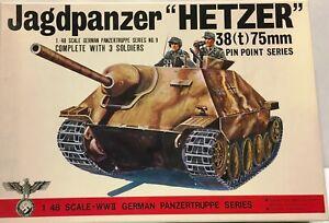 Bandai #8239 1/48 scale WWII German Jagdpanzer 38T 75mm Hetzer tank NIB Rare