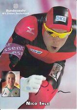 Nico Ihle  Eisschnellauf Autogrammkarte signiert 370529