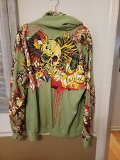 Pepe Jeans Mens Size 2XL Hoodie Jacket Graphic Skull Snake Eagle Blood vintage