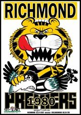 Richmond Tigers 1980 Clash Poster FREE POST IN AUSTRALIA