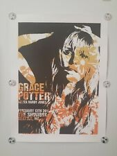 Grace Potter screen printed original concert poster Seattle 2016