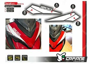 Adhesive Stickers Compatible DUCATI Multistrada 1200 Tapered MT14