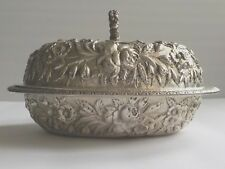 Jacobi & Jenkins Baltimore REPOUSSE Sterling Silver Entree Dish, c. 1894-1908