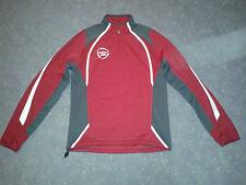Saller Pullover Fußball Training Sweatshirt Größe S *wie neu* weinrot-grau