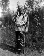 New 8x10 Native American Photo: Long Time Dog, Warrior of Hidatsa Indian Tribe