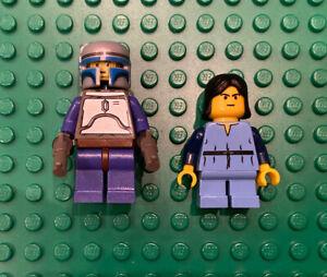 LEGO Star Wars Jango Fett SW0053 In Set 7153 & Boba Fett Vintage Authentic