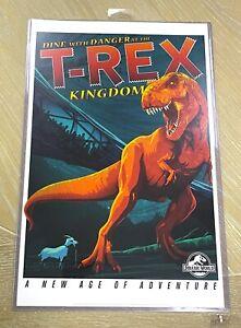 """Universal Studios Jurassic World T-Rex Kingdom Poster Art Print 11"""" x 17"""""""