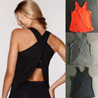 Women's Gym Tank Sports Fitness Shirt Yoga Top Workout Sleeveless Runnging Vest