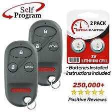 Car Key Fob Keyless Entry Remote fits 1997-2001 Honda CR-V // 2000-2009 Honda S2000 E4EG8DJ Set of 2