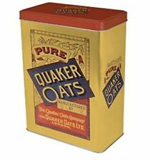 Vintage Style Retro Large Lidded Tin - Quaker Oats - Great Range In Stock