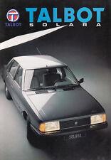 TALBOT SOLARA LS GL GLS SX Limousine Youngtimer Prospekt Brochure 1982 /38