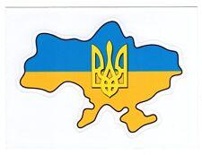 Ukrainian Decal Car Bumper Sticker Map of Ukraine Flag Tryzub Trident
