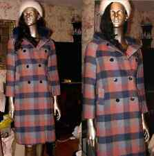 Women's SIZE 8 Winter Long Wool Coat~Vintage~FREE UK SHIPPING