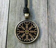 Helm of Awe Vegvisir Pendant Necklace - Viking Norse mjolnir Thor Hammer Odin