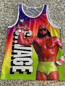 WWE Macho Man Chalk Line Tank Top Adult Medium
