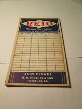 Vintage Reio Cigar Store Advertising Score Pad Writing Pad Hanover, Pa.