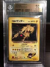 POP 1! BGS 10 PRISTINE Japanese Rocket's Zapdos Holo Gym Challenge Pokemon