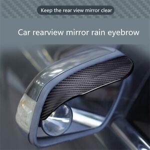 Rear View Mirror Rain Brow Shield Soft PVC Visor Guard Car Auto Accessories 2Pcs