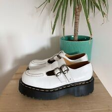 DR MARTENS VTG MADE IN ENGLAND WHITE LEATHER PLATFORM MARY JANE SHOES 5 BETHAN