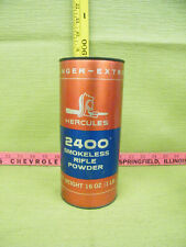 Vintage Empty Hercules 2400 Smokeless Rifle Powder Canister