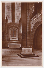 Old postcard of Liverpool Cathedral, War Memorial Transept