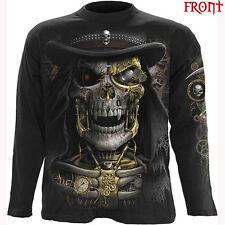 Spiral Direct STEAM PUNK MIETITORE Maniche Lunghe T-shirt/Biker/Gotico/Skull/