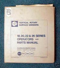 Blanchard Operators & Parts Manual for Vertical Rotary (Inv.17990)