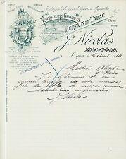 Dépt 69 - Lyon- Fabrique de Pipes & Papiers à Cigarettes - J. NICOLAS de 1914