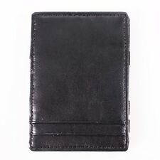 BLACK MAGIC WALLET ORGANIZER, MONEY, RECEIPT, CARD HOLDER Faux Leather BSM