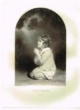 "Mezzotint Eng. Proof - ""INFANT SAMUEL"" - by Sir Joshua Reynolds - c1820"
