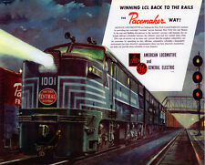 """New York Central System """"Winning LCL Back to the Rails"""" Train Metal Sign"""