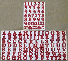 Creative Memories Alphabet Letter ABC and number 123 stickers - Cranberry
