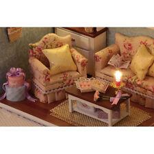 Miniatur Salon Wohnzimmer Studierzimmer Puppenhaus Installationssatz Holz DIY