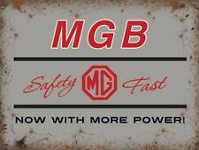 MGB metal advertising sign 30x40cm silver MG classic car wall plaque
