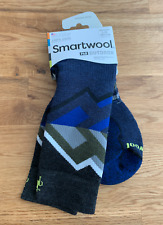 Smartwool Men's PhD Outdoor Medium Pattern Crew Socks Deep Navy Size L (9-11.5)