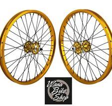 "20x1.75"" SE Racing Sealed Bearing Wheelset BMX GOLD"